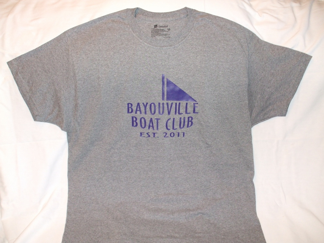 Bayouville Boat Club Shirt. Colors may vary from picture.